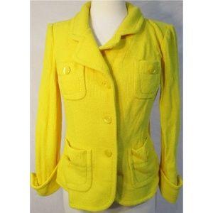 St. John Yellow Terry Cloth Blazer Jacket